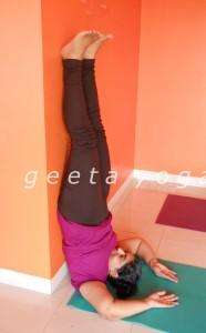 Sarvangasana Practice