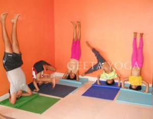 Sirsasana practice